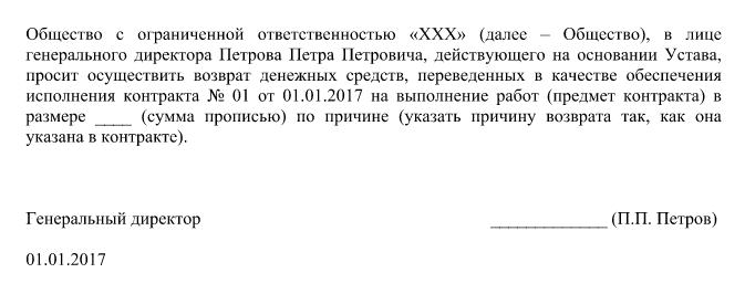 Письмо подрядчику о невыполнении обязательств