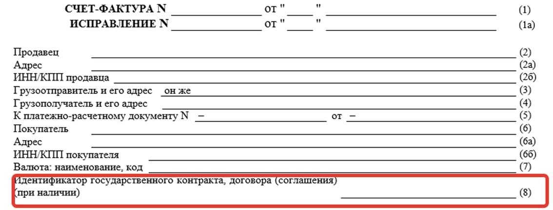 Идентификатор госконтракта договора соглашения кто указывает